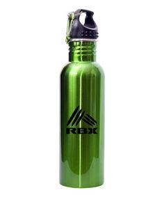 Look at this #zulilyfind! Green Stainless Steel Water Bottle #zulilyfinds