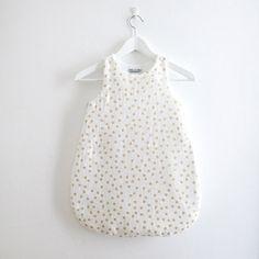 Gold & Snow White Baby Sleeping Bag
