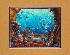 Hookah Lau Bubble Bar Tiki Art, Tiki Tiki, Tiki Tattoo, Tiki Decor, Pirate Art, Tiki Lounge, Vintage Tiki, Mermaid Fairy, Hawaiian Art