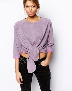 ASOS Sweatshirt with Tie Front