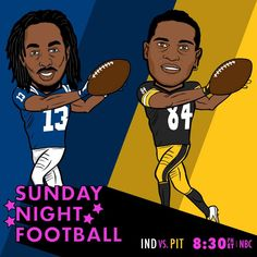 Indianapolis Colts. The Pittsburgh Steelers. Sunday Night Football on NBC. 12/6/2015