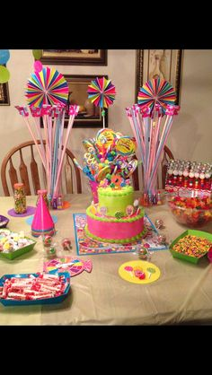 Quinceanera Party Planning – 5 Secrets For Having The Best Mexican Birthday Party Candy Theme Birthday Party, 2 Birthday, Candy Land Theme, Jojo Siwa Birthday, Trolls Birthday Party, 6th Birthday Parties, Candy Party, Birthday Ideas, Candy Land Decorations