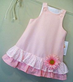 Cotton Candies Stripe Childrens Pink ALine Girls by sugarch This Pin was discovered by Ira Imagem relacionada by melody Frocks For Girls, Little Girl Dresses, Girls Dresses, Toddler Dress, Toddler Outfits, Kids Outfits, Baby Frocks Designs, Kids Frocks Design, Baby Girl Dress Patterns