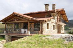 Imagen de casa con escaleras de madera