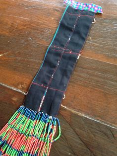 Vintage Hmong Fabric straps Trim Handmade embroidered fashion Hilltribe craft supplies measurement: 41cm (with fringe 57cm) x 5.5cm * Automatic Combined shipping after the first item, SAVE $$$$$$. Cheap shipping item! **Buy 4 pieces get 15% off, or Buy 6 pieces get 20% off, Or new