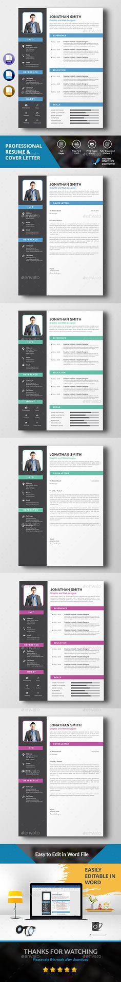Word Resume Template, Resume ideas and Personal branding - psd resume templates