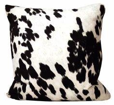 black-faux-cowhide-pillows