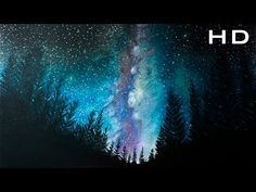 Como Pintar Un Paisaje Estrellado Facil Tizas Pastel Pasteles Secos Speed Drawing Youtube Dibujo Sobre Pasteles Acuarela De Galaxia Tiza Pastel