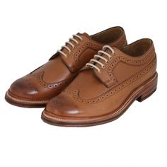 df50bf5b745 Grenson   Shoes   Sid Long Wing Brogue in Tan   John Anthony Mens Designer  Clothes