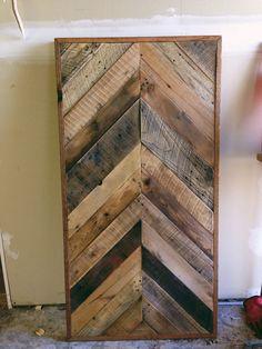 Ready to ship Reclaimed Barn wood Chevron herringbone COFFEE, entry way foyer loft console coffee sofa desk.  Modern hairpin steel legs.