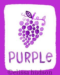 Wall Art Print Color Series- Purple. $22.00, via Etsy.