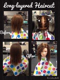 180 Degree Long Layered Haircut Using Shears. Blow Dry Styled At The End.  Products: Wella Flowing Form U0026 Wella Heat Protectant.