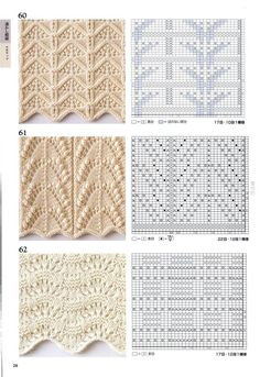 260 Knitting Pattern Book by Hitomi Shida 2016 — Yandex. Lace Knitting Stitches, Lace Knitting Patterns, Cable Knitting, Knitting Books, Knitting Charts, Lace Patterns, Knitting Designs, Knitting Projects, Stitch Patterns