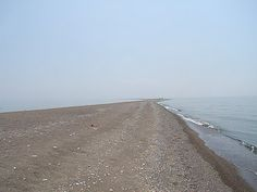 The long strip of sand at the tip of Pelee Island