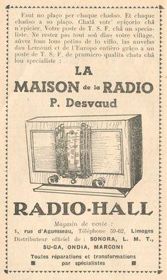 Las nuvelas dau Lemouzi grâço a un poste de TSF, Armana dou Galetou, 1939 - Bfm Limoges.