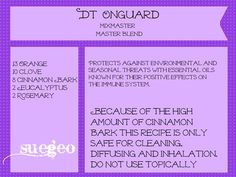 DoTerra OnGuard copycat blend, use cinnamon leaf instead of bark for topical use
