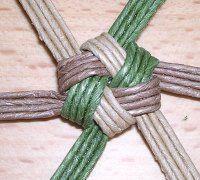 Flower knot knitting