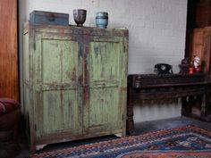 Large Vintage Distressed Cupboard