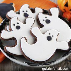 Buuuuuuu qué susto pero qué delicia, a disfrutar Halloween con estas galletas de fantasmas