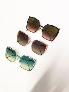 Time for a vote! Tell us which of these new Can Eye sunglasses from Fendi is your fave. Green - ❤️ Pink - 😆 Black - 😡  Online now  https://www.redhotsunglasses.co.uk/sunglasses-c29/fendi-m206 #sunglasses #mensunglasses #womensunglasses #polarizedsunglasses #fashion