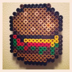 Hamburger Perler Bead by Camille Wells