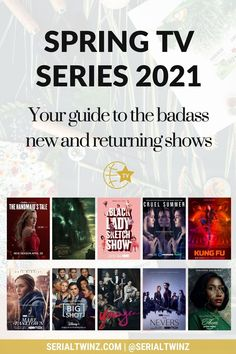 Hey Serial Fans and welcome to the Spring TV Series 2021: Your Guide To The Badass New And Returning Shows. In this guide, we are recommending you the best TV series to watch and stream this Spring. And in the Spring TV series 2021 guide, we have selected only the best badass new and returning shows premiering or released in April 2021. We selected fantasy, comedy, drama. action, dramedy, and more series. #TVSeries #TVShows #BestTVShows #ShowsToWatch Comedy Tv Series, Comedy Tv Shows, Tv Series To Watch, Fertile Woman, Laura Donnelly, Ally Mcbeal, Famous In Love, Unbreakable Kimmy Schmidt, Drama Tv