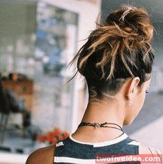 25 Undercut Hairstyles Women Undercut Girl, Best Undercut Hairstyles, Short Hair Undercut, Girl Hairstyles, Growing Out Undercut, Kinds Of Haircut, Grow Out, Hair Trends, Hair Goals