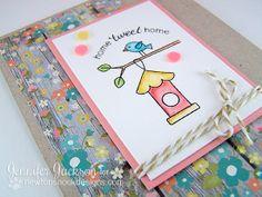 Birdhouse Card using Tweet Talk Stamp set by Newton's Nook Designs