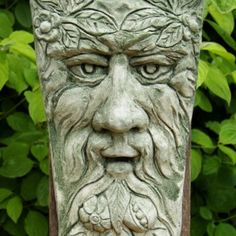 Keystone Green Man This watchful Green Man is carved in a simple, timeless design. All our ornaments are made and finished by hand at our workshop in Zeeland, the Netherlands. Cast in frostproof casting stone the Keystone Green Man is suitable for both indoors and outdoors. The ornament is 17cm wide, 30cm high, and weighs about 2kg.