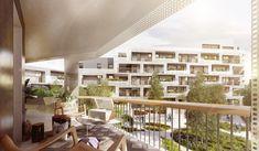 Ensemble de logements ZAC Vilmorin – Massy. Architect : ECDM architectes