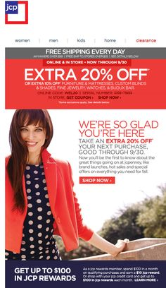 JC Penney    welcome   WelcomeEmails   emailmarketing   email   newsletter…