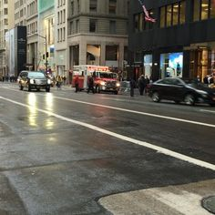 NYPD SRG VAN PATROLLING ON 5TH AVENUE IN THE MIDTOWN AREA OF MANHATTAN IN NEW YORK CITY..... by themajestirium1