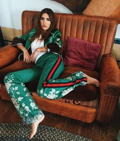 """Patricia Manfield på Instagram: """"Green @gucci for @brownsfashion in London! / hair @oscaralexanderl / makeup @yinleemakeup"""""""