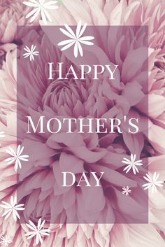 Happy early Mother's day to all u wonderful Mothers!