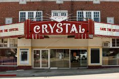 Crystal Theatre; Okemah, Oklahoma. Recently restored...great place to watch a movie! My FAVORITE middle school hangout. Lots of memories here