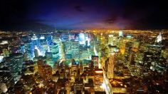 The City of Lights HD Wallpaper in Full HD from the Cities category. Tags: city, lights, New York, Night Nyc At Night, New York Night, Night City, New York Wallpaper, Lit Wallpaper, Widescreen Wallpaper, Retina Wallpaper, Wallpapers Ipad, Beautiful Wallpaper