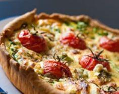 Quiche roquette, chorizo, chèvre frais et tomates (facile, rapide) - Une recette CuisineAZ