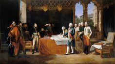 Гийом Летьер -- Подписание мирного договора в Леобене 17 апреля 1797 года. Версальский дворец
