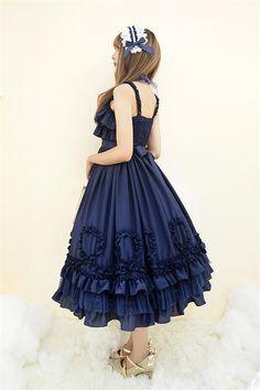 Little Dipper~ Tsarsya~ Pure Cotton Chiffon Classic Lolita JSK Dress  57.99  - My Lolita e5151e928032
