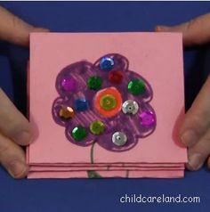 Easy To Make Mother's Day Card - Pinned by @PediaStaff – Please Visit  ht.ly/63sNt for all our pediatric therapy pins