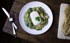 Vegan tofu thai green curry Green Curry, Palak Paneer, Tofu, Vegan Recipes, Vegetarian, Cooking, Ethnic Recipes, Kitchen, Blog