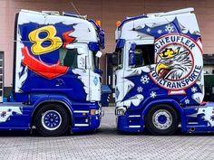 Customised Trucks, Custom Trucks, Truck Paint Jobs, Scania V8, Show Trucks, Porsche 911, Transportation, Classic Cars, Vehicles