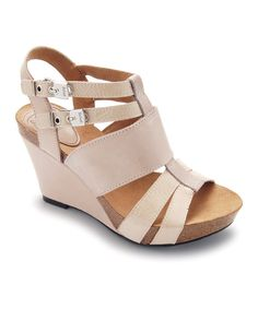Take a look at this Sand Ankita Wedge on zulily today!