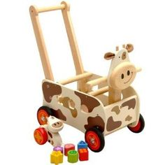 I'mTOY walker & ride cow