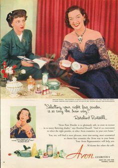 0 Rosalind Russell for Avon Cosmetics ad 1952
