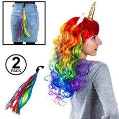 bf9620ebd08 Tigerdoe Unicorn Costumes Halloween Dress Up Accessories Rainbow Girls  Theater  fashion  clothing  shoes