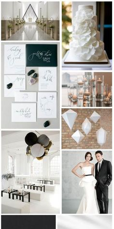 Modern Minimalist Wedding, inspiration board by The Simplifiers | Austin