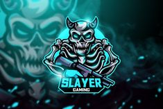 , Slayer Gaming - Mascot & Esport Logo- Suitable for your personal or squad logo, All elements on this template are editable with adobe illustrator! Editable Text, Before you open the Logo Files, you must install the font first in the Logo Gaming, Gaming Tattoo, Creative Logo, Adobe Illustrator, Mafia, Squad, Adobe Photoshop, Sport Logos, Team Mascots