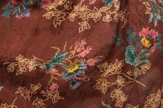 Chocolate Brown Flower柄フレアミニスカート