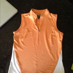 Workout top- adidas Workout top- adidas- small- orange and white- like new ! Adidas Tops